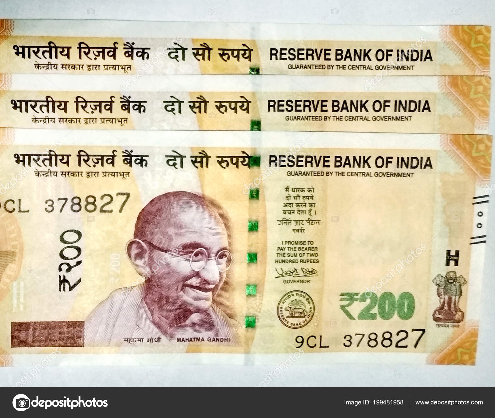 Indian Currency 200 Rupee Notes – Stock Editorial Photo