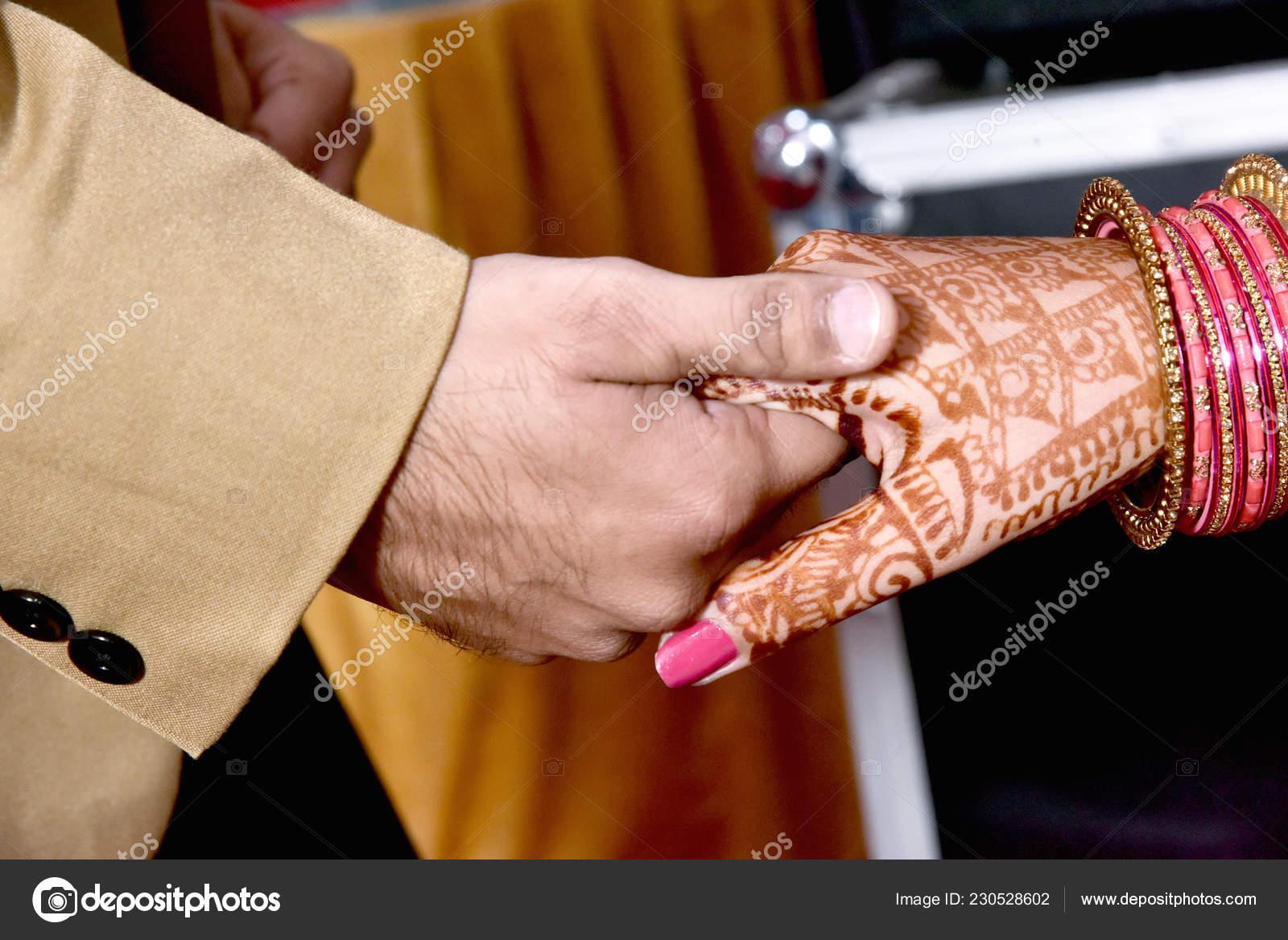 Bride Groom Hand Together Indian Wedding Stock Photo C Deepkcreation 230528602