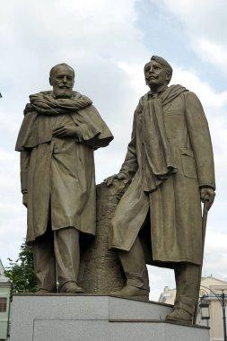 Moscow, Russia - MAY, 2016: Stanislavski and Nemirovich-Danchenko Monument