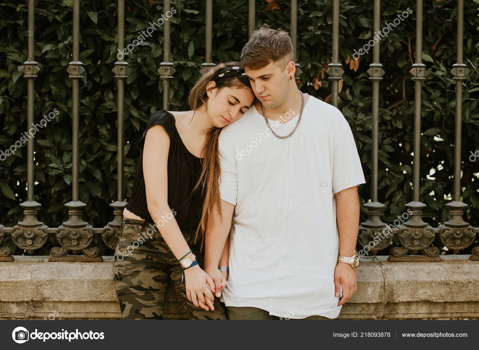 Young Couple Teenagers Having Relationship Difficulties Stock Photo C Marcoscastillo 218093878