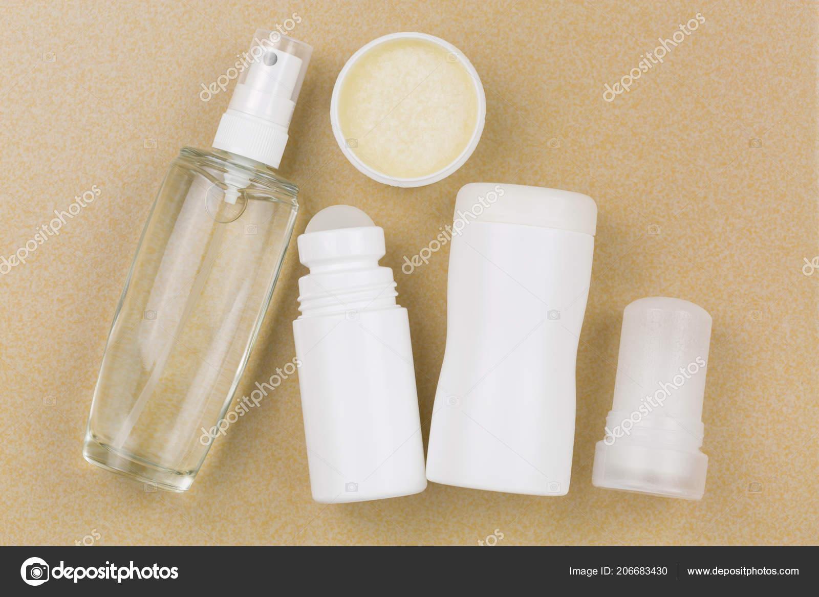 Deodorant Spray Roll Homemade Cream Powder Mineral Alum Crystal Stick– stock image