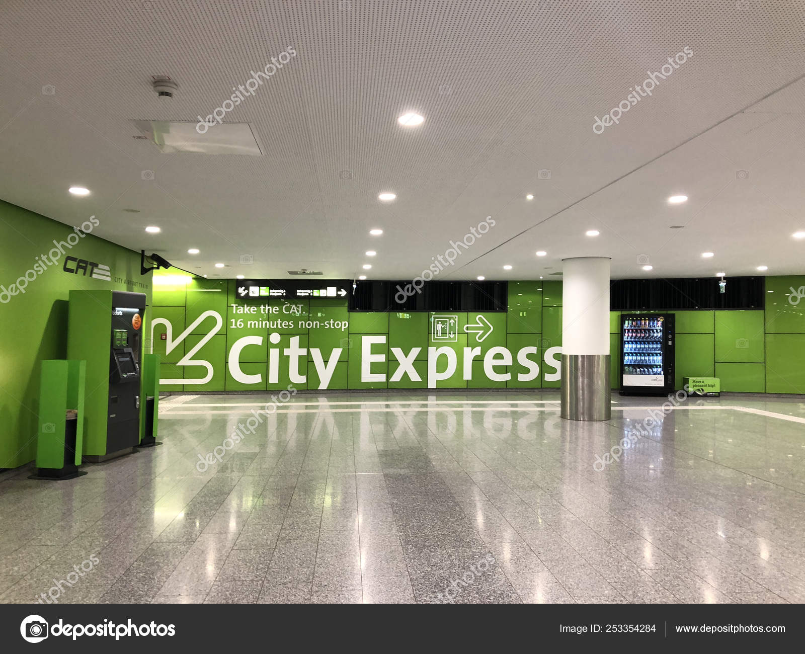 Vienna City Airport Train Cat Transfer Terminal Situated In The