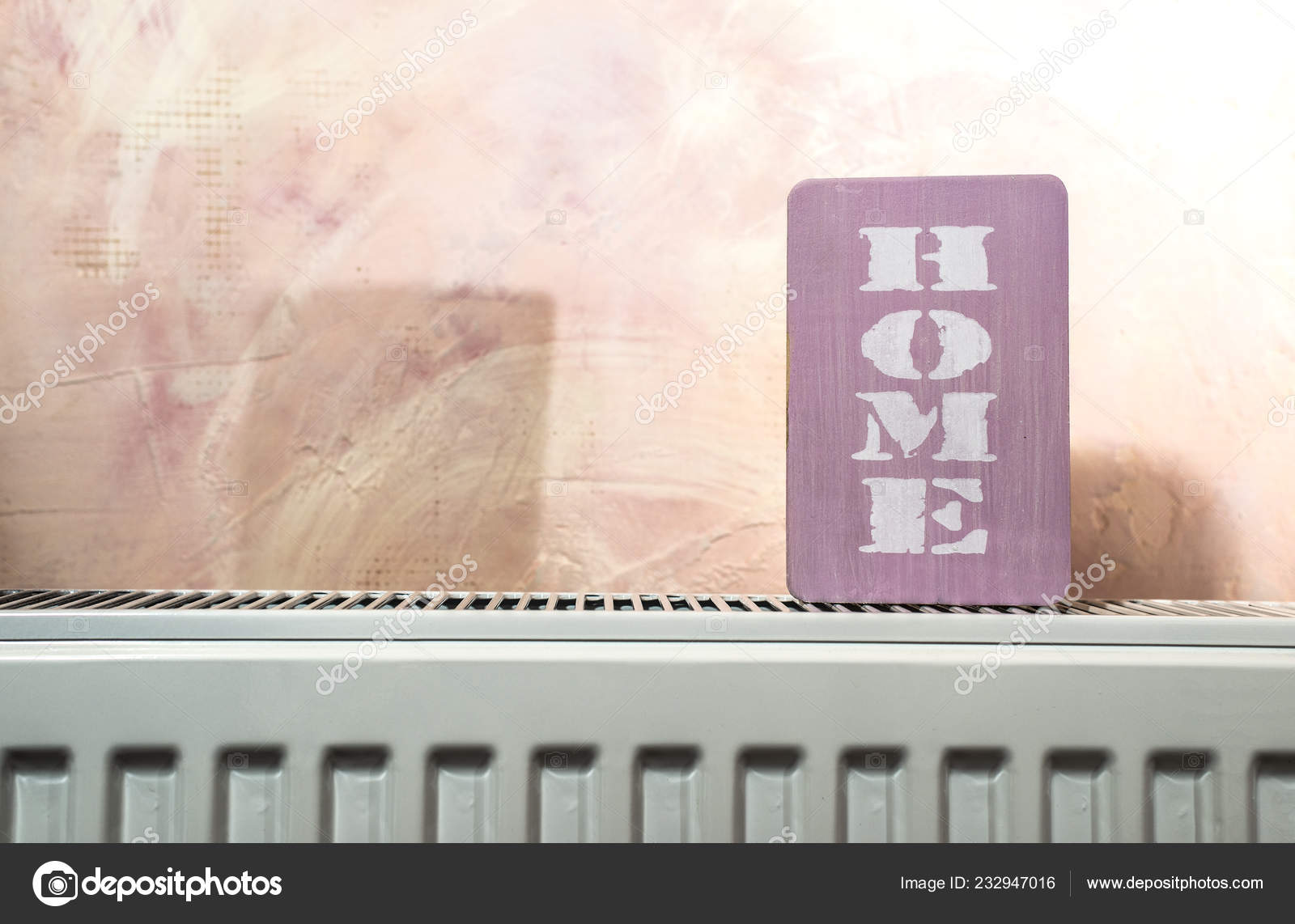 Home Word Radiator Pink Wall Room Daylight Window Heating House