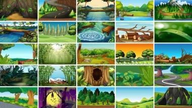"""Картина, постер, плакат, фотообои """"Пустые, пустые пейзажные сцены природы"""", артикул 285823558"""