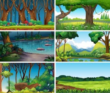 """Картина, постер, плакат, фотообои """"Пустые, пустые пейзажные сцены природы"""", артикул 289118216"""