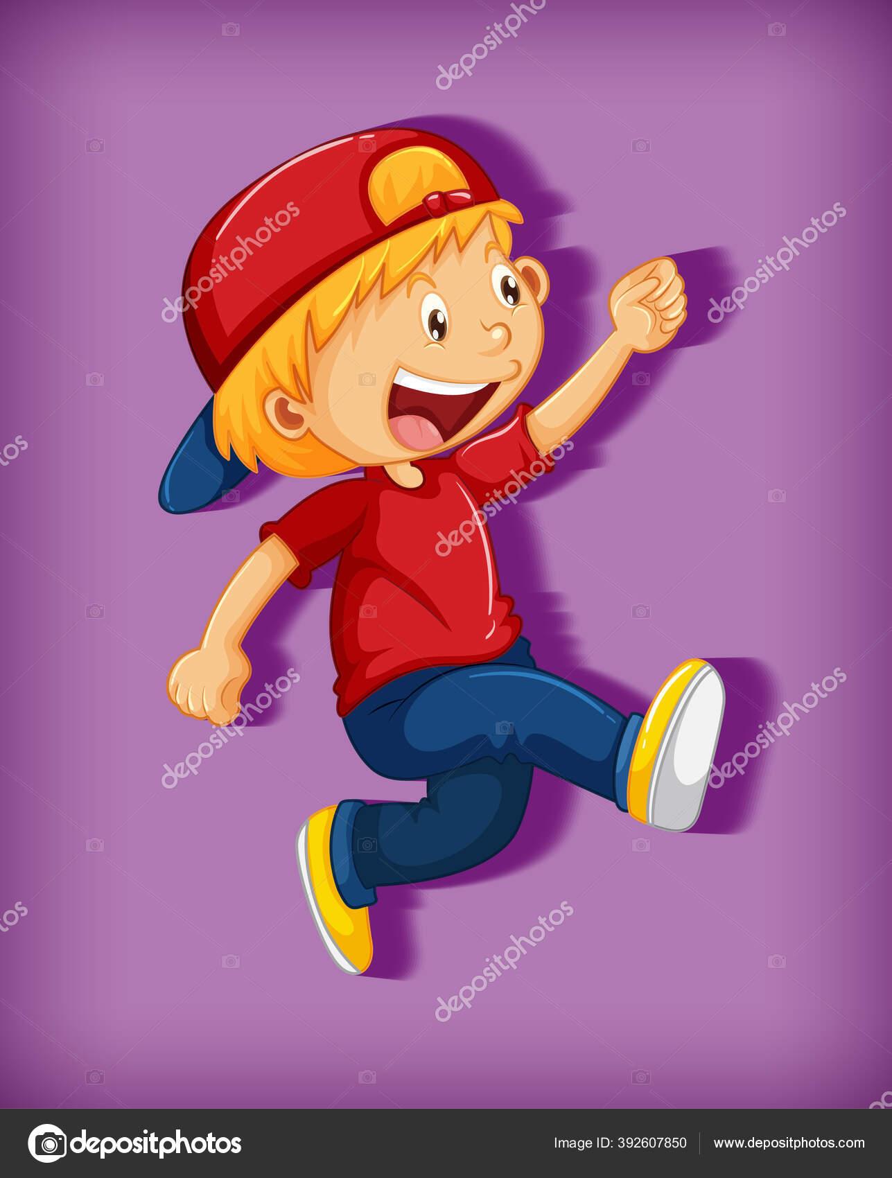 Anak Laki Laki Lucu Mengenakan Topi Merah Dengan Cengkeraman Posisi Stok Vektor C Interactimages 392607850