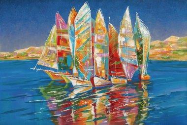 Artwork. Autumn regatta. Author: Nikolay Sivenkov.