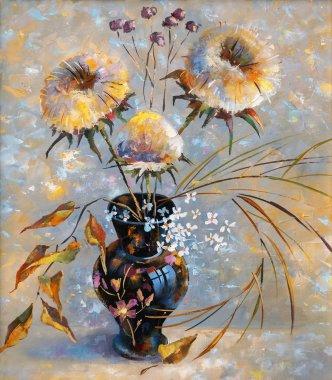 Artwork. Dry flowers. Author: Nikolay Sivenkov.