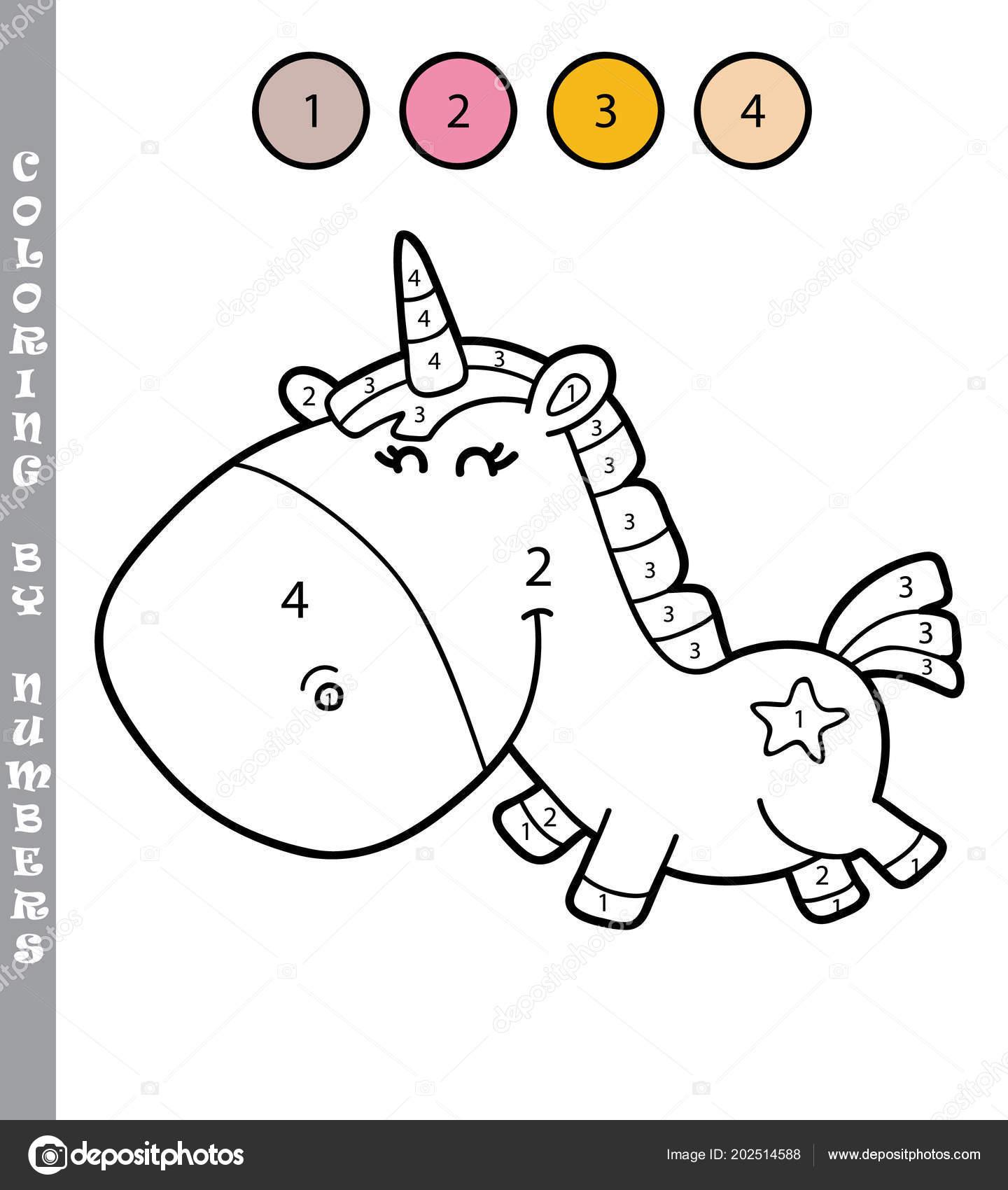 Ilustración Del Vector Para Colorear Por Números Juego