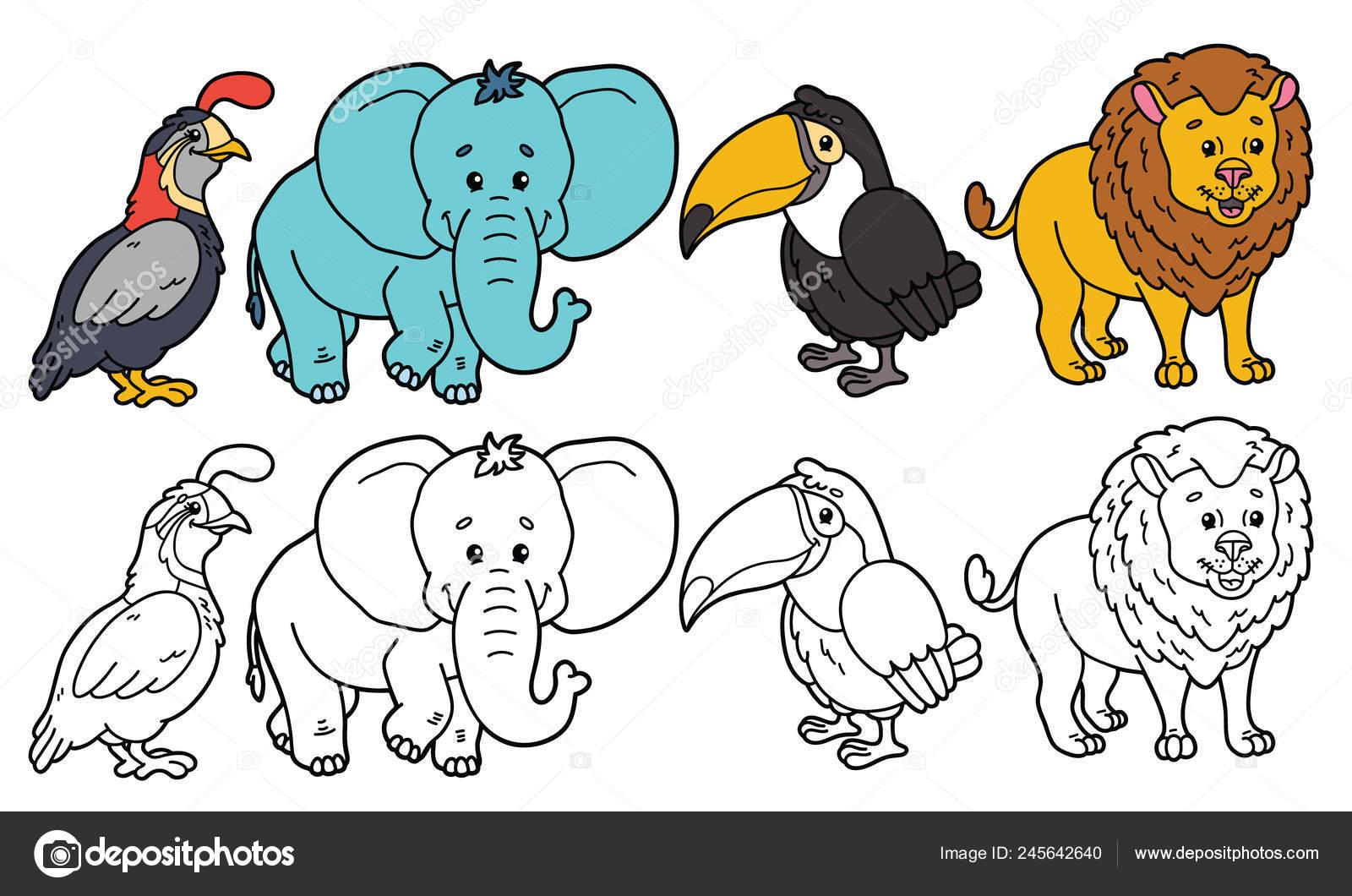 Ilustración Del Vector Para Colorear Página Del Personaje Dibujos