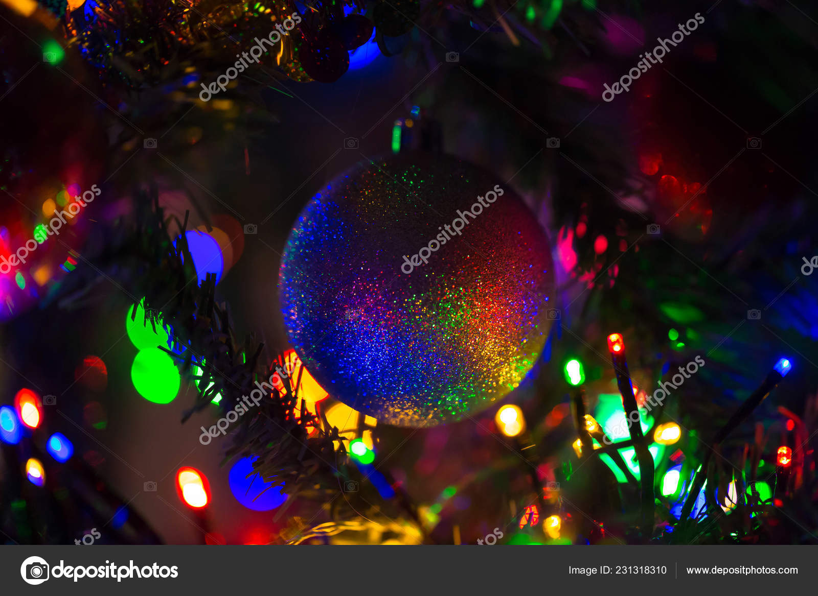 Magical Rainbow Christmas Ball Hanging Christmas Tree Christmas