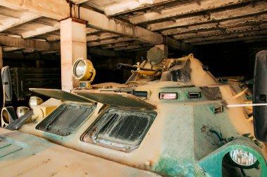 Gun armored close-up, modern Russian armored car.