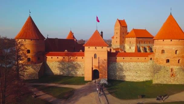 Letecké video z hradu Trakai