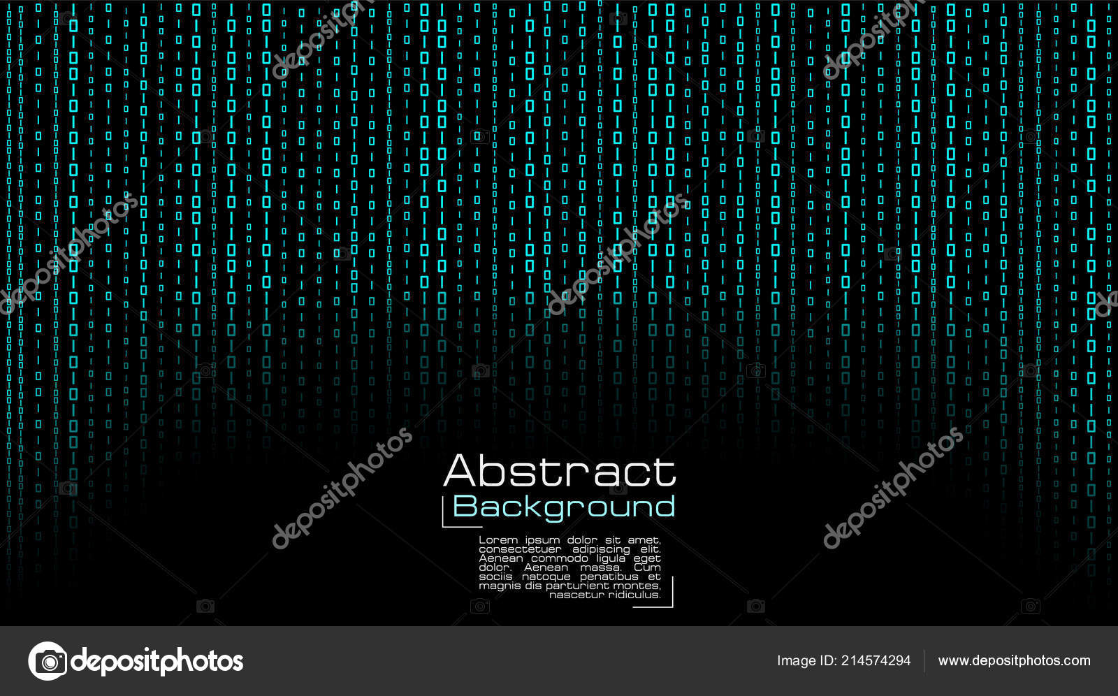Vector streaming binary code background. black computer background numbers 1,0 can be used in cover design, poster, banners, wallpaper, website backgrounds, ...