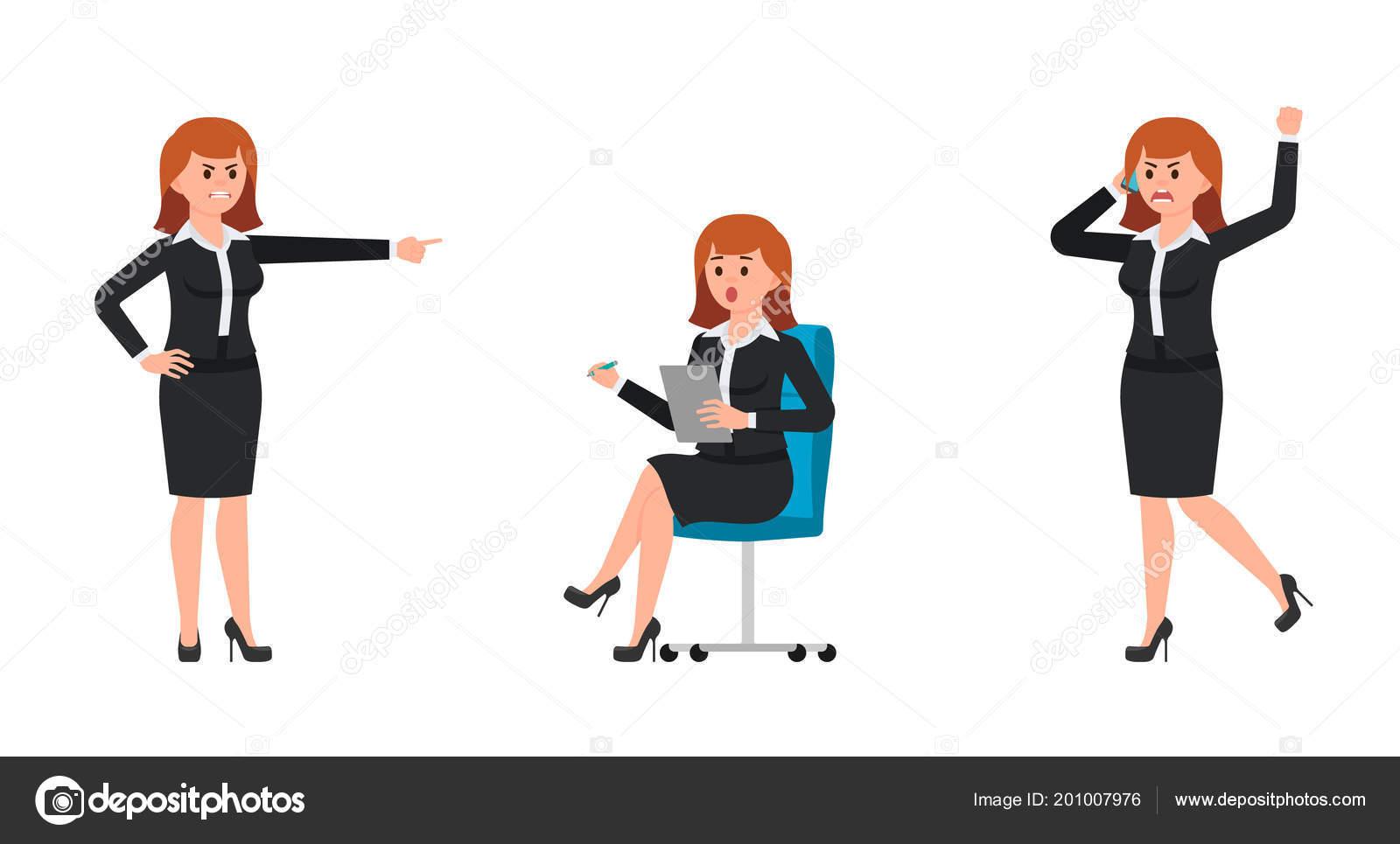Pointant Femme Noir Sur Tailleur Criant Colère Smartphone Doigt VMSUpqzG