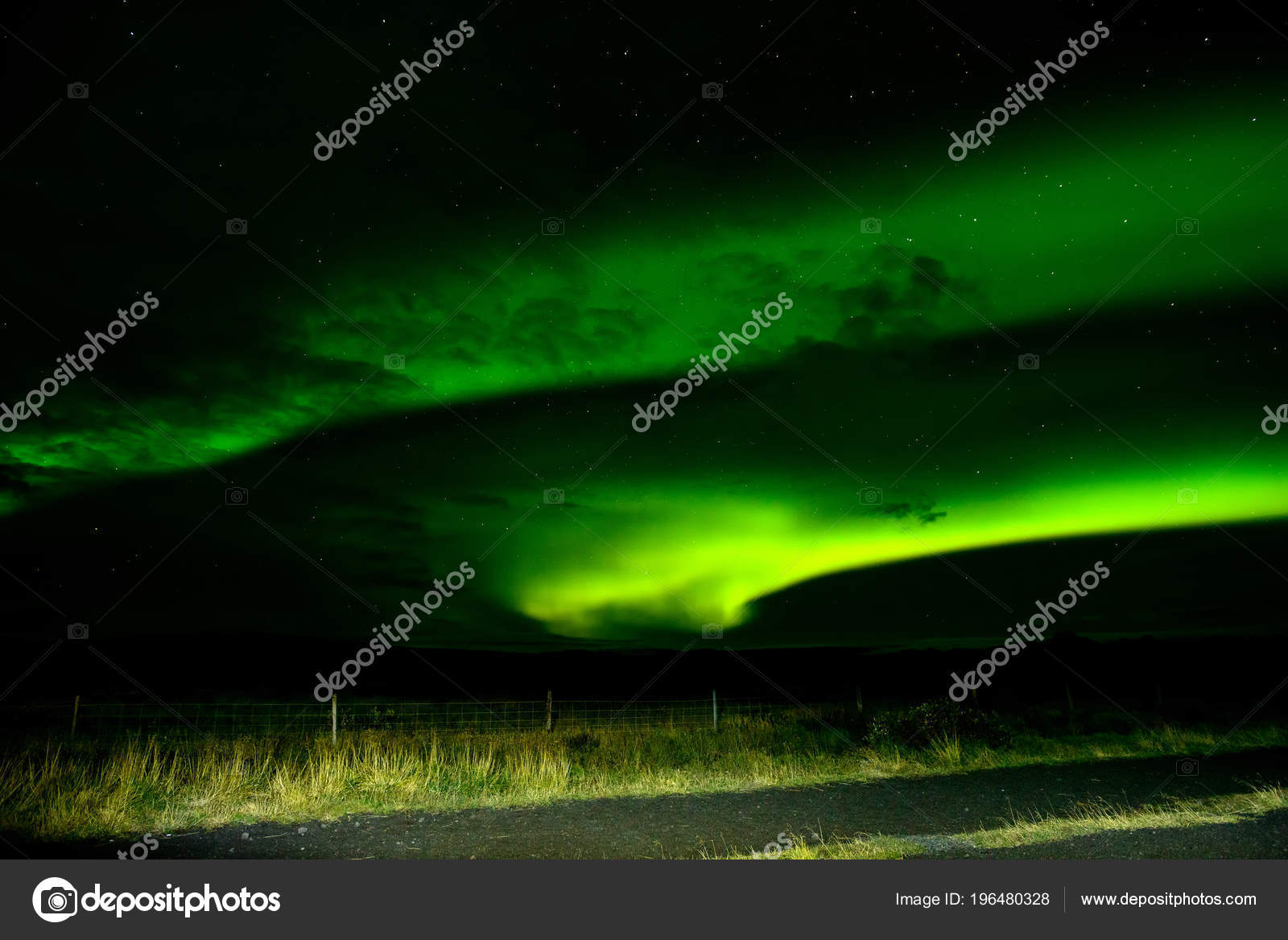 Amazing Northern Lights Iceland Sky Bright Dancing Lights Aurora