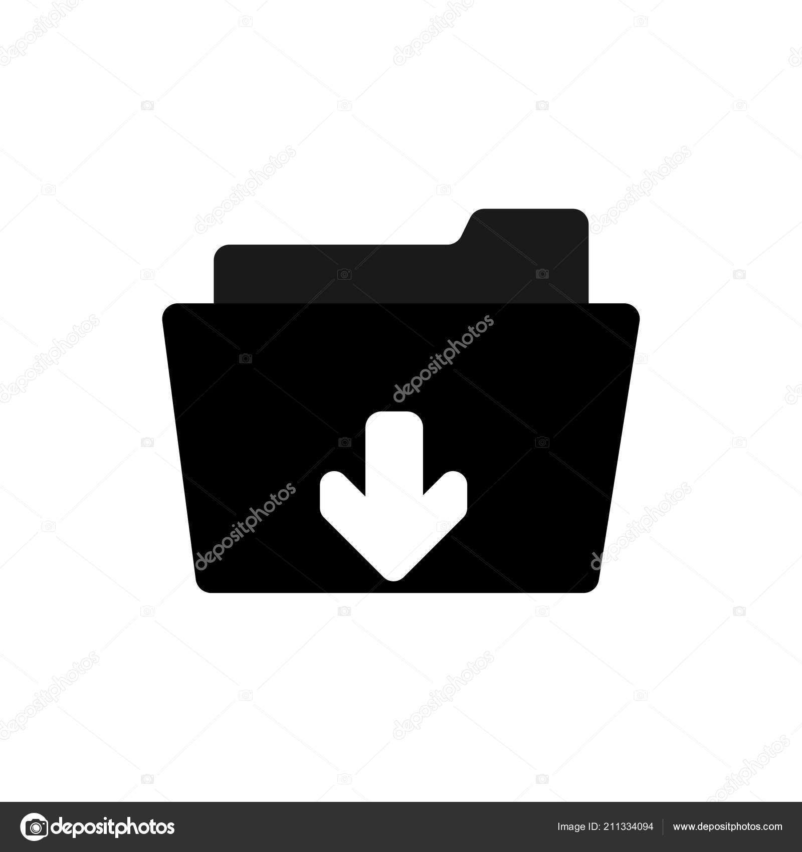 Download Vector Icon Install Symbol Modern Simple Flat Vector