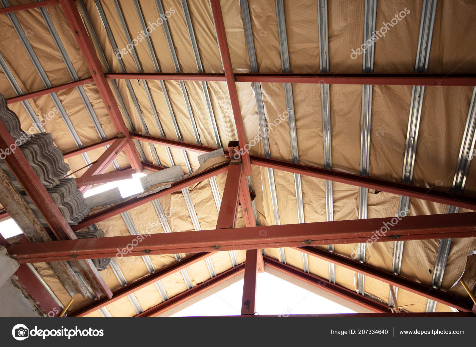 Steel Frame Insulation Sheet House Roof Building Construction Site