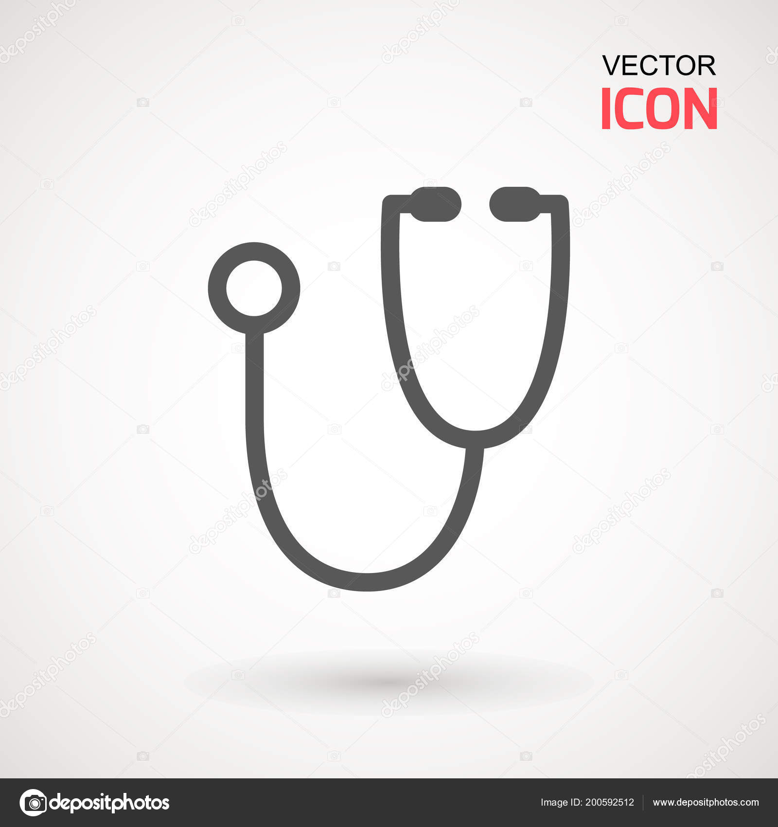 Stethoscope Icon Trendy Flat Style Isolated Background Stethoscope