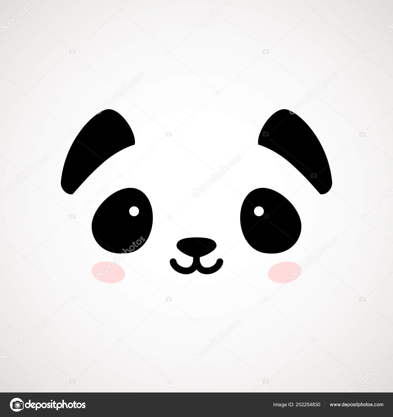 cute panda face vector illustration panda bear logo design template