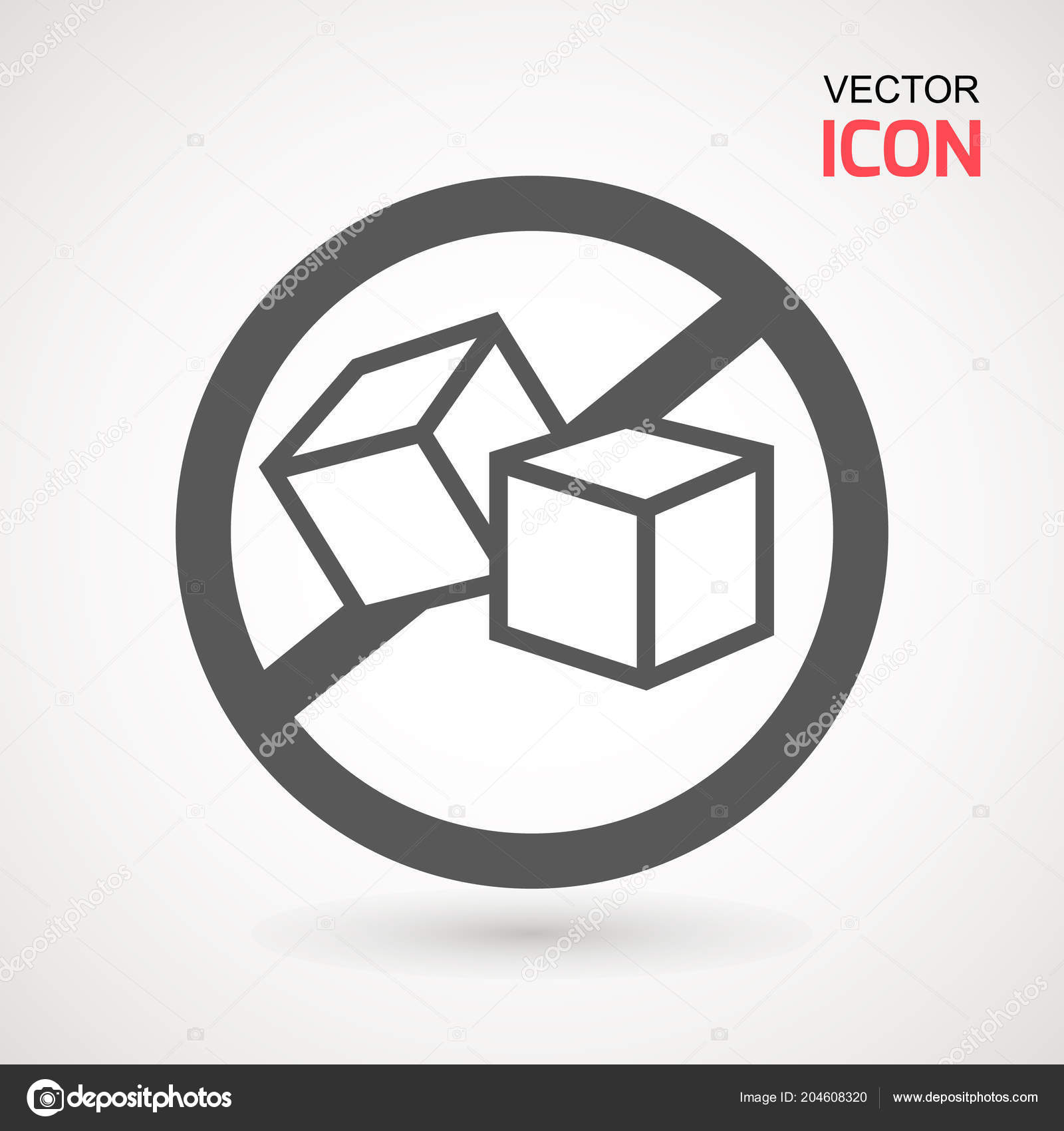 Sugar Free Vector Icon Vector Sugar Cubes Circle Icon Sugar Stock