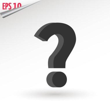 Question Icon Vector flat design style. Trendy symbol for website design, web button, mobile app. Logo illustration.