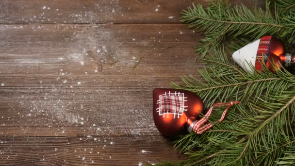 Merry Christmas Images 2020.New Year And Merry Christmas 2019 2020 Christmas Tree With Decorations On Wooden Background Female Hand Puts A Cup Of Freshbrewed Coffee 4k