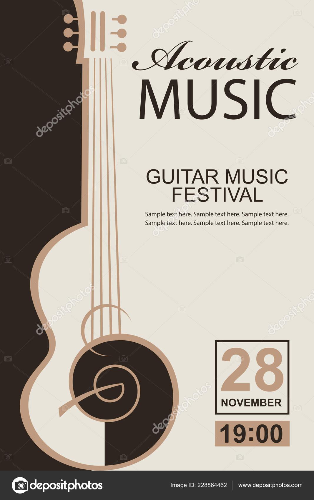 Banner Guitar Acoustic Music Concert Festival Stock Vector C Alexkava 228864462