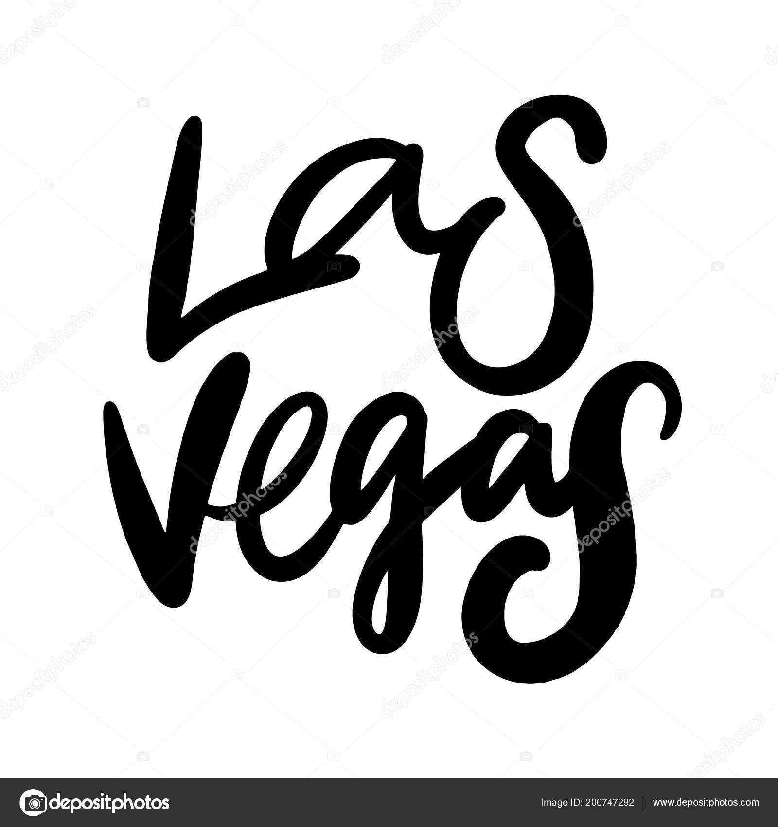 Ortsschild Von Las Vegas Bürsten Sie Vektor Schriftzug Isoliert