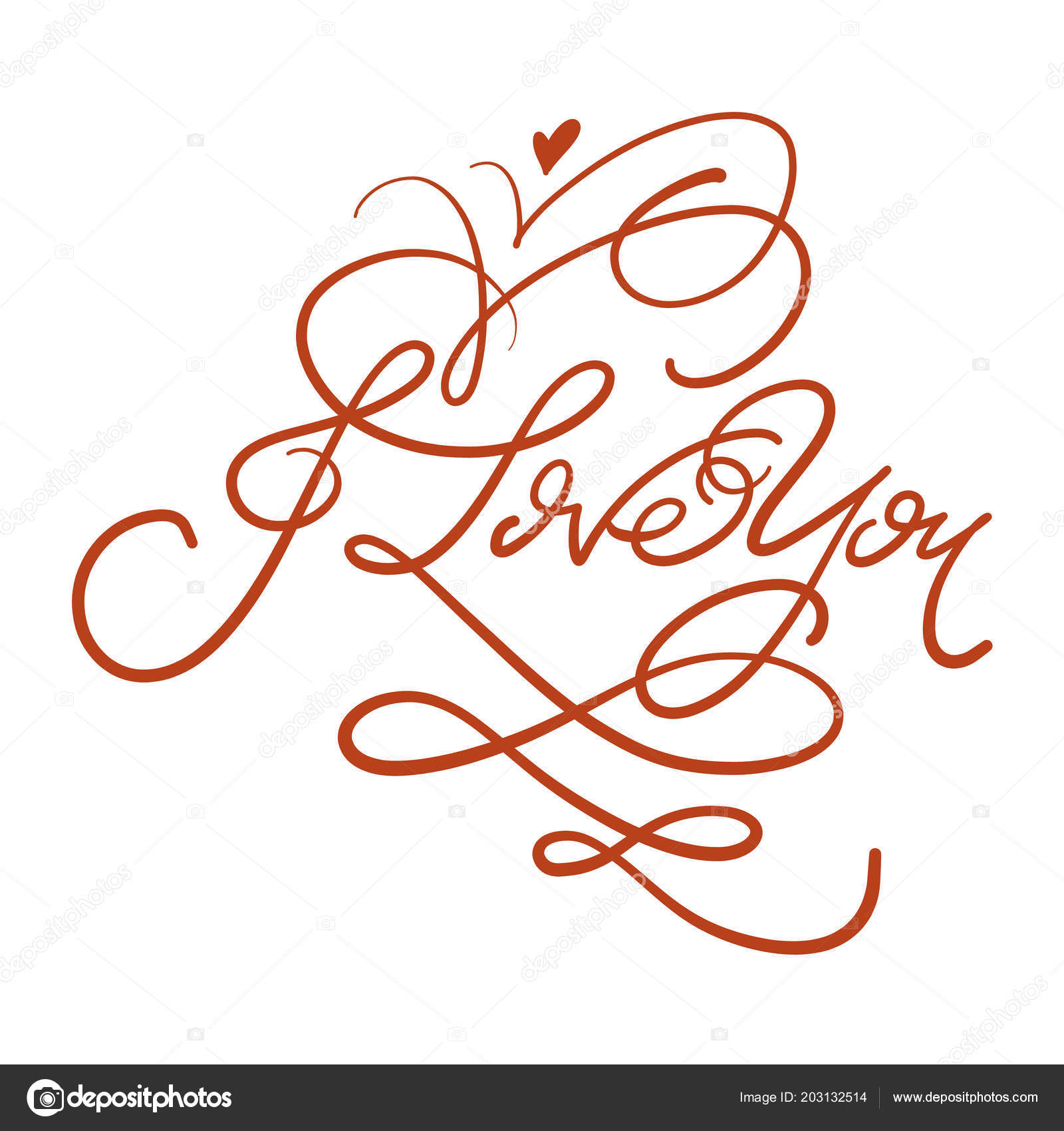 Dibujado Mano Letras Conjunto Con Frases Románticas Amor