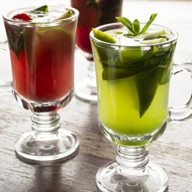 Hot cocktails for winter holidays. Photo for menu cafe, bar, restaurant.