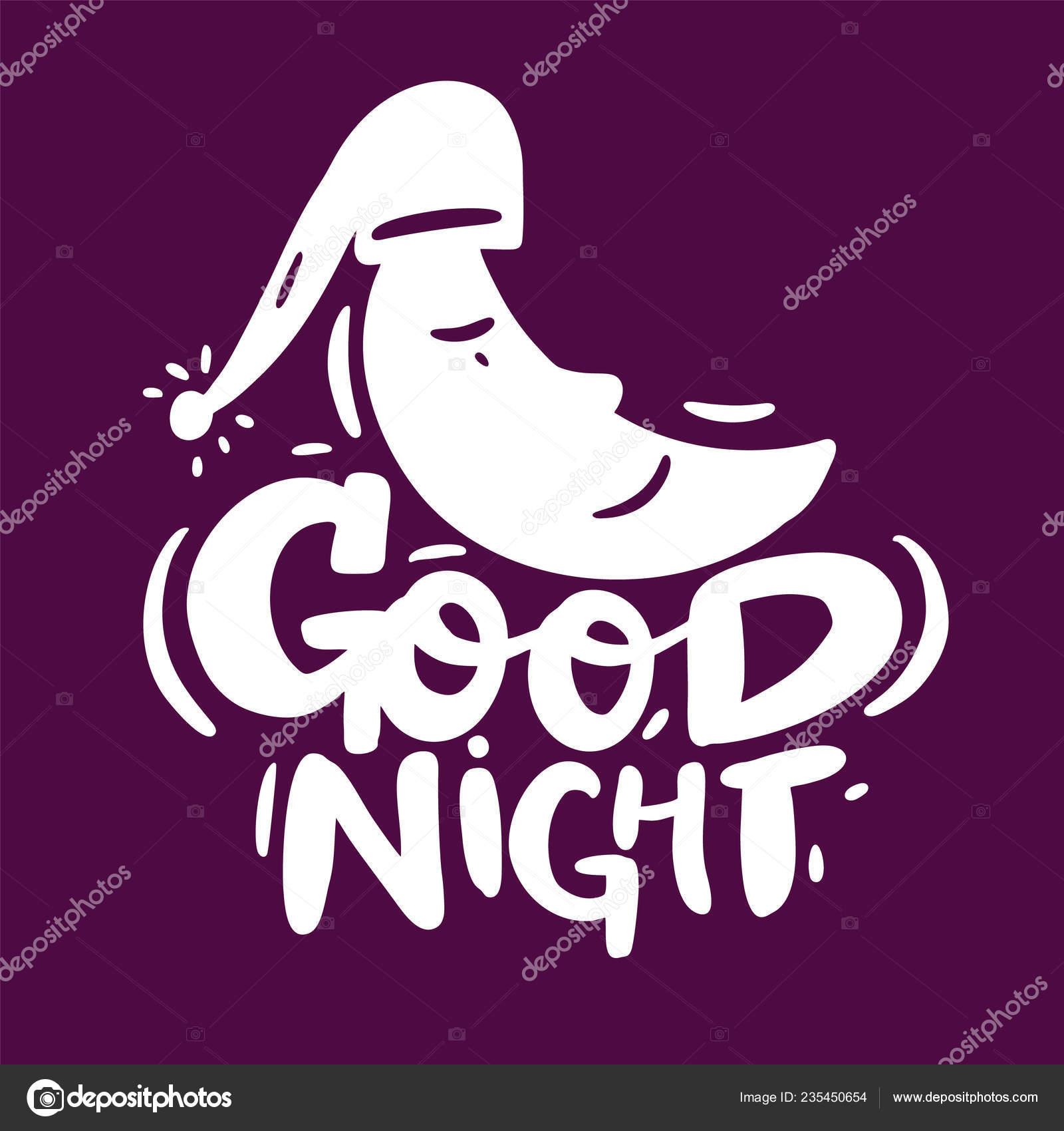 Buenas Noches Vector Letras Texto Motivacional Para Logotipo