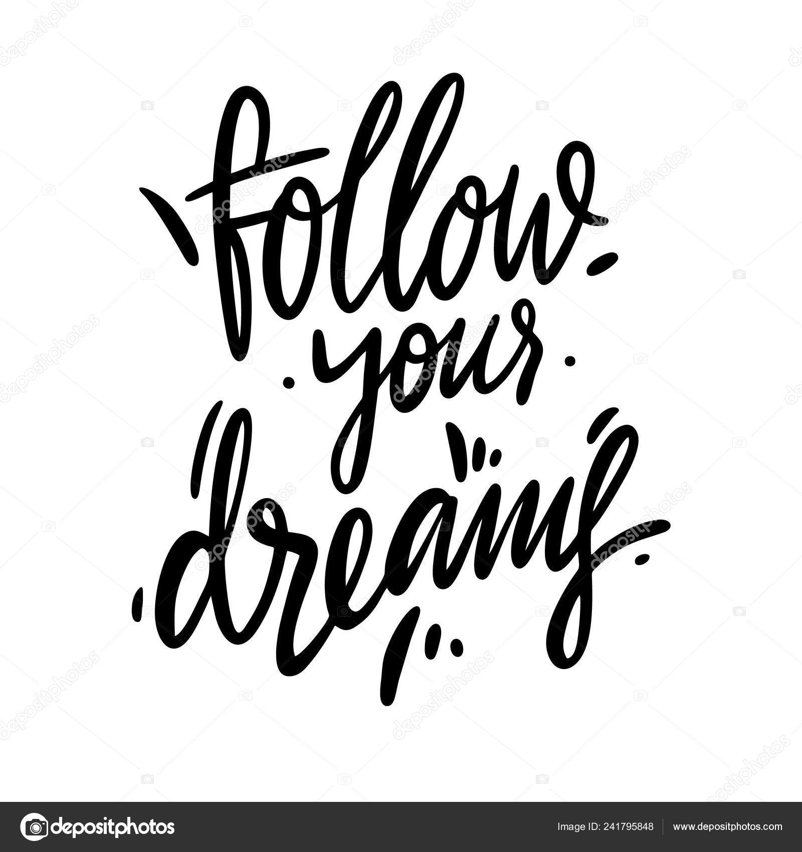 Siga o seu vetor de tipografia de sonhos download