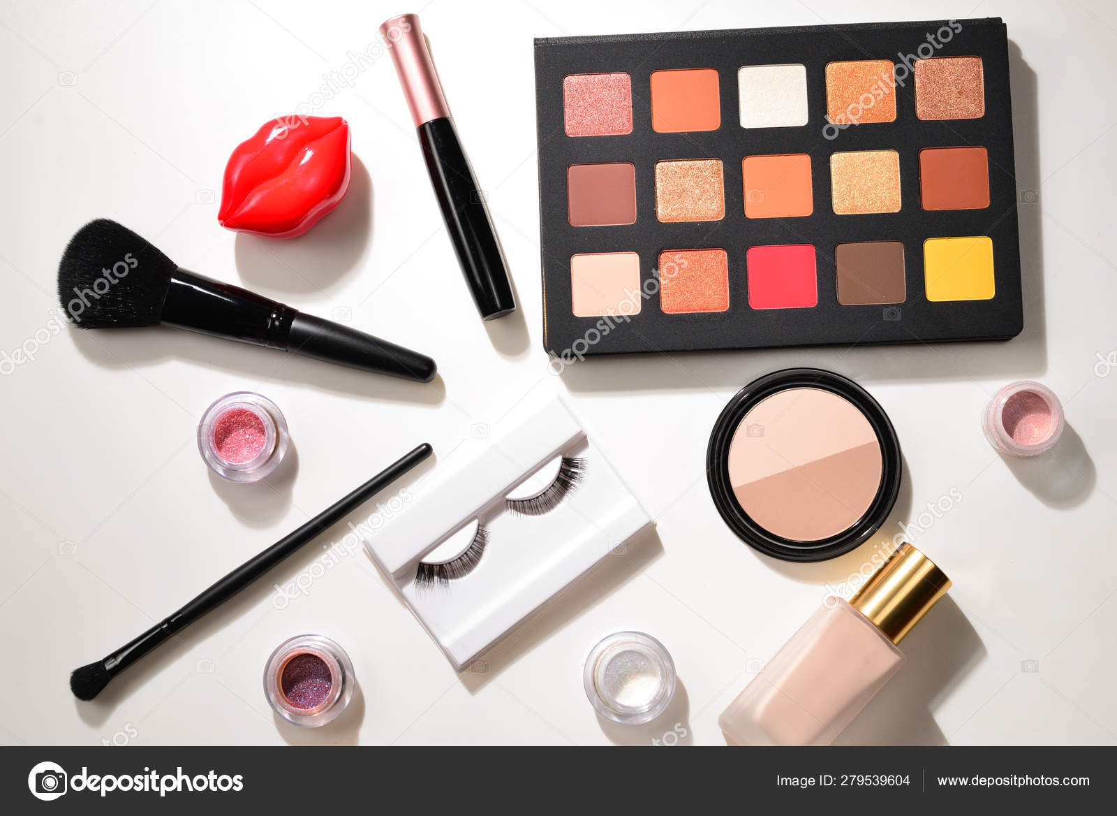 Professional makeup products with cosmetic beauty products