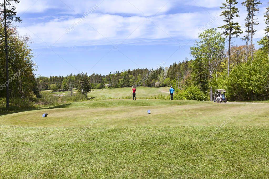 Golf players at Prince Edward Island Canada