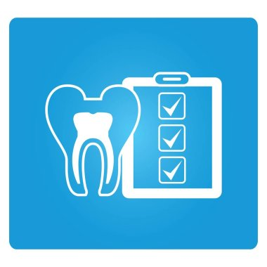 Web icon. Vector illustration of  tooth
