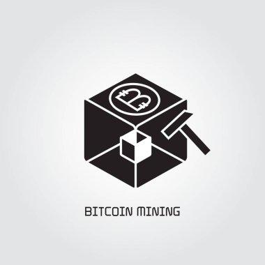 Business, bitcoin  concept. Vector illustration