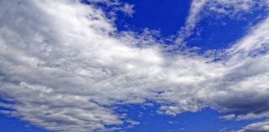 Cloudscape afternoon with bright blue sky