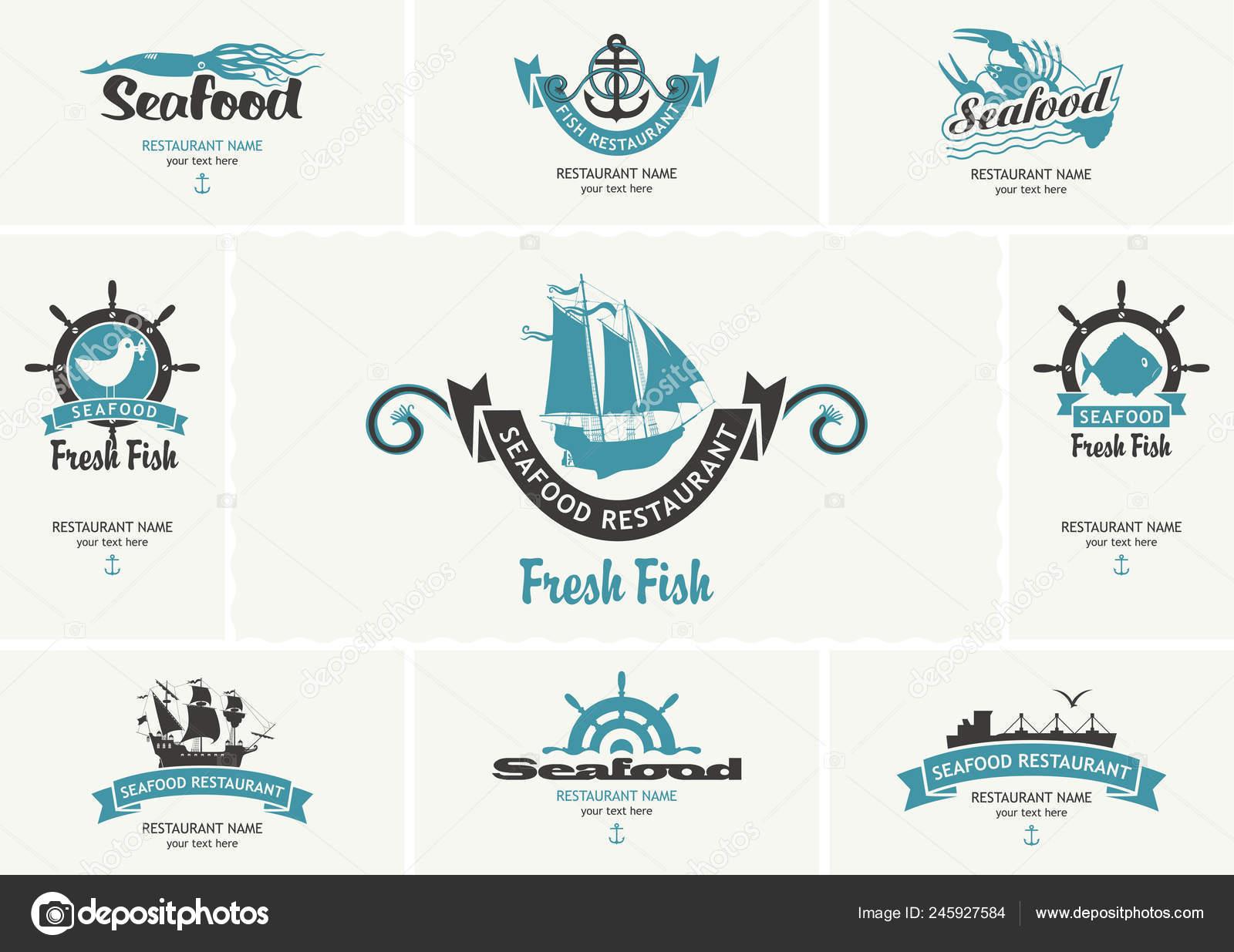 Eingestellt Von Vektor Visitenkarten Mit Logos Zum Thema