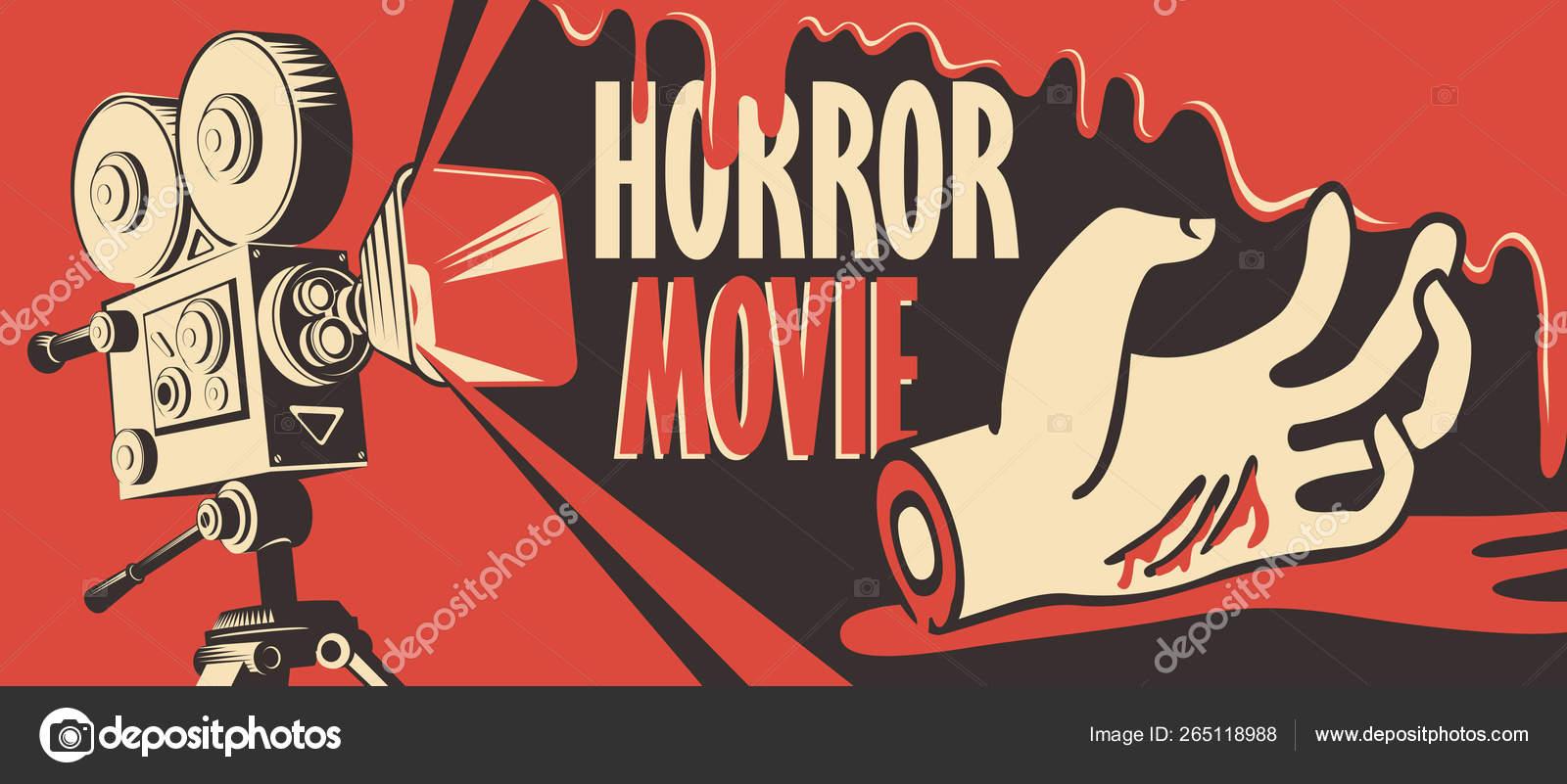 Banner For Horror Movie Festival Scary Cinema Stock Vector C Paseven 265118988
