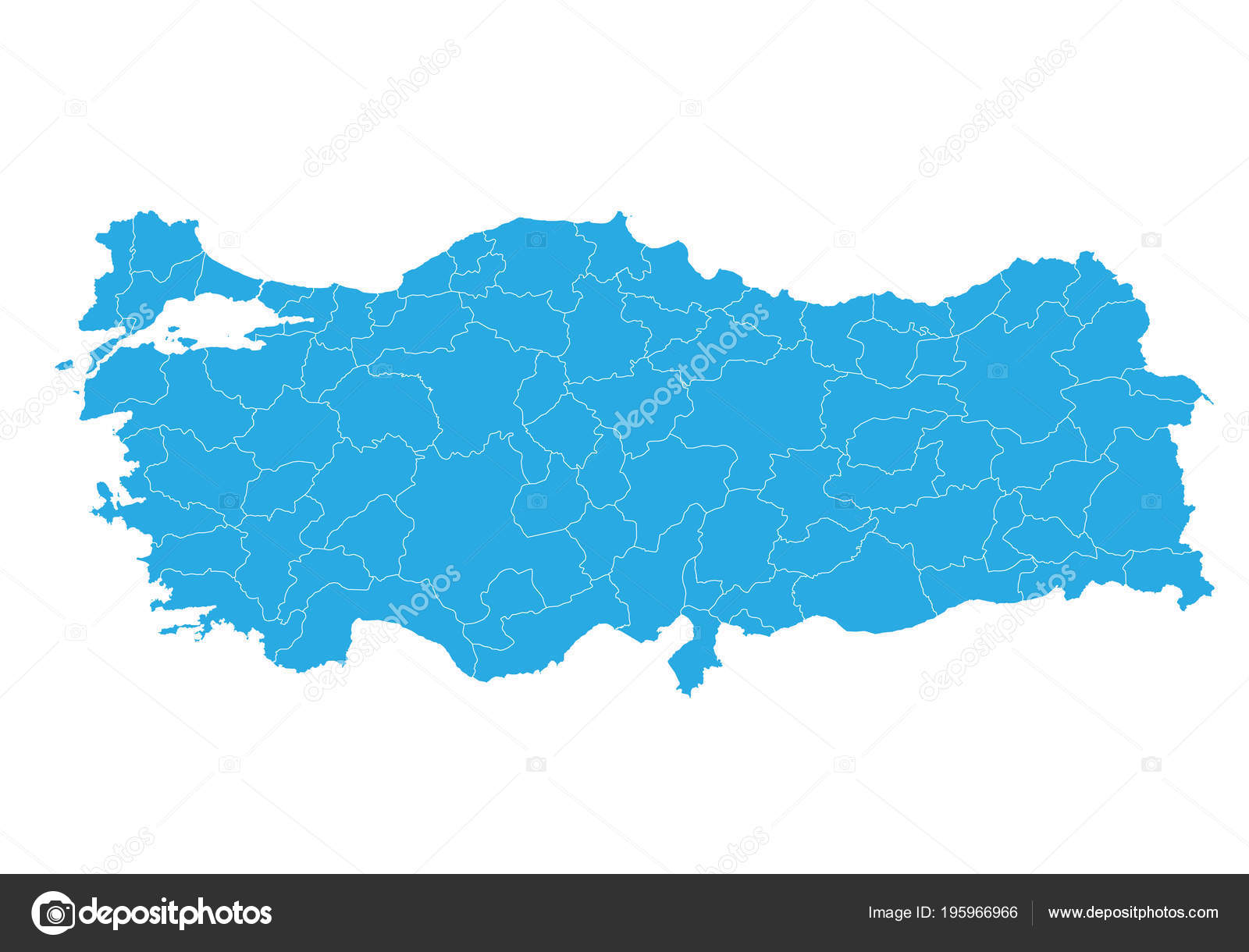 Map Turkey High Detailed Vector Map Turkey — Stock Vector ...