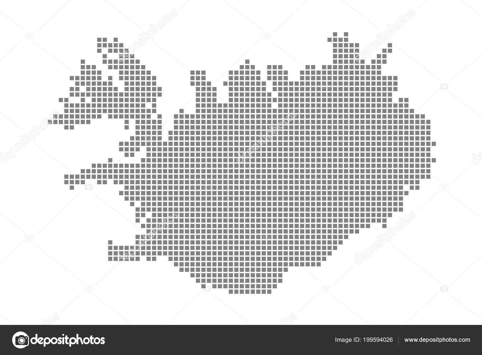 Pixel Map Iceland Vector Dotted Map Iceland Isolated White ...