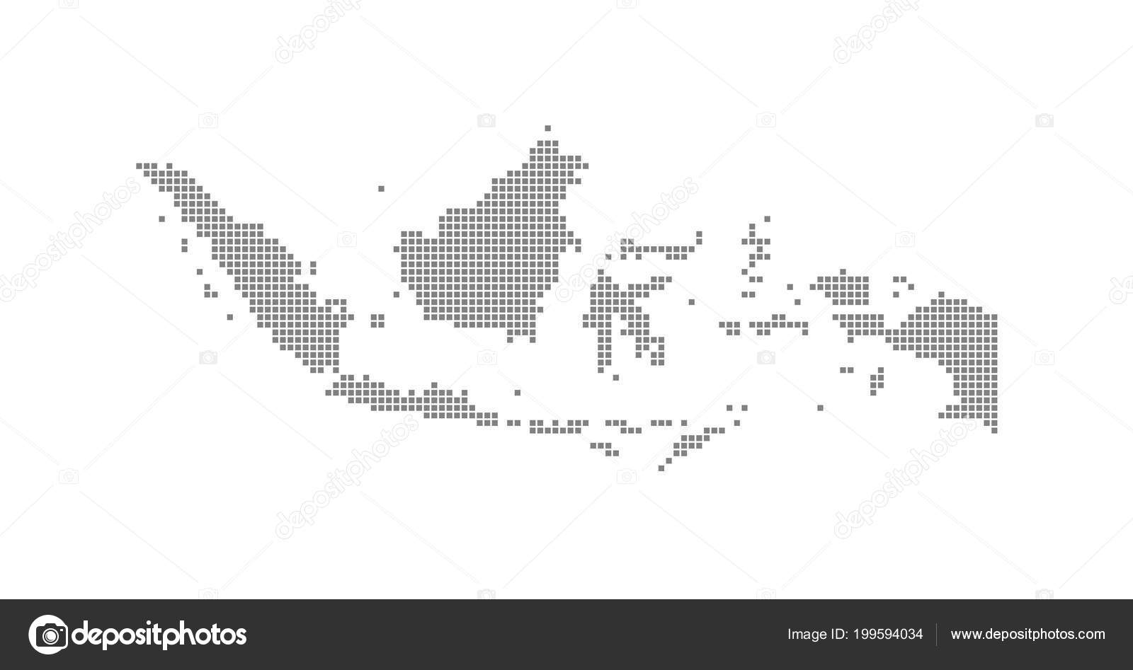 Pixel Map Indonesia Vector Dotted Map Indonesia