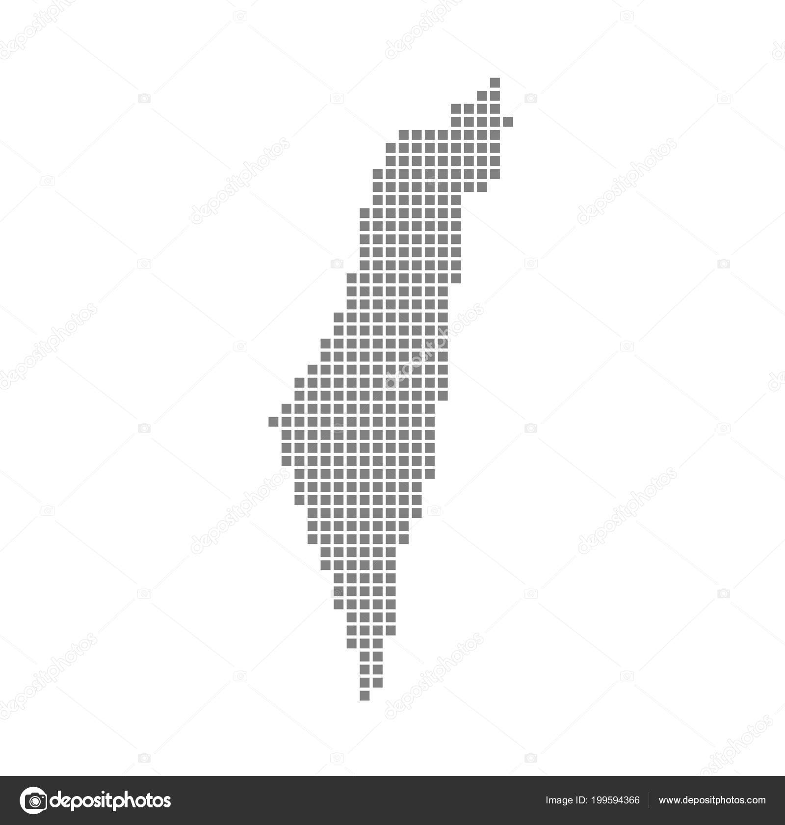 Pixel Map Palestine Vector Dotted Map Palestine Isolated White ...