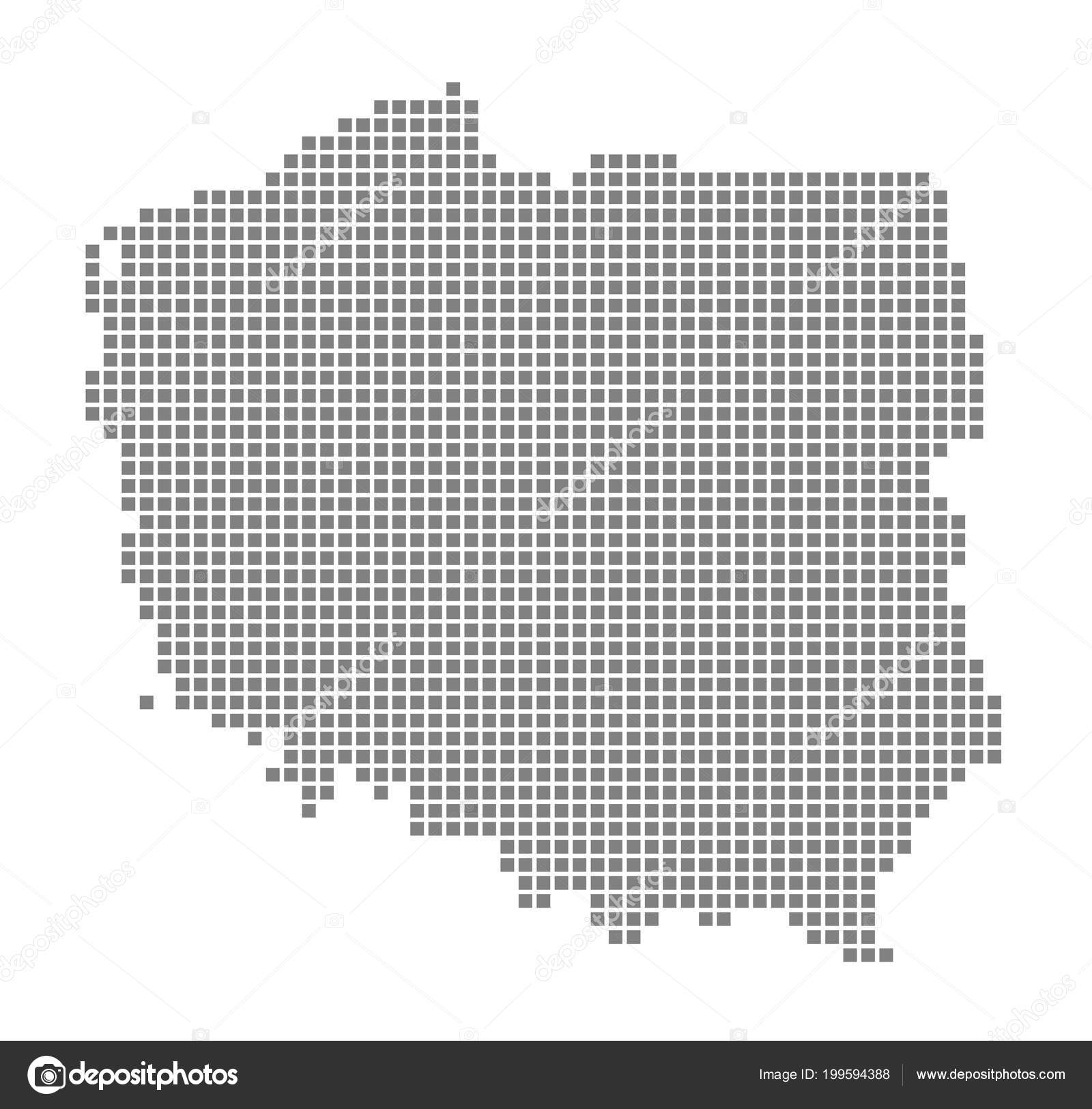 Pixel Map Poland Vector Dotted Map Poland Isolated White Background ...