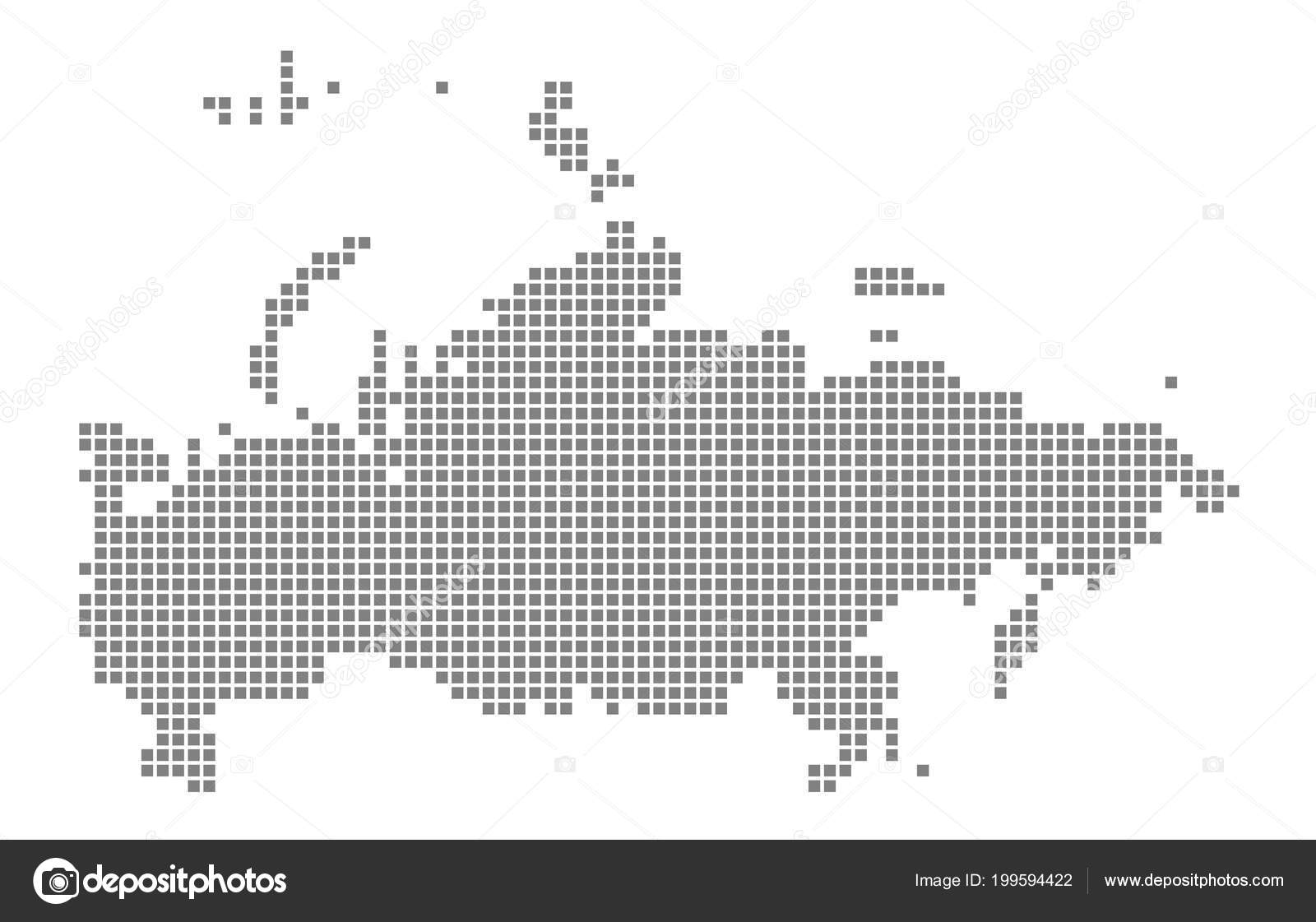 Pixel Map Russia Vector Dotted Map Russia Isolated White Background ...