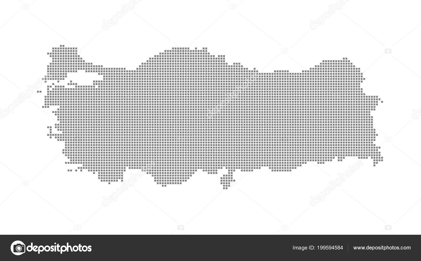 Pixel Map Turkey Vector Dotted Map Turkey Isolated White ...