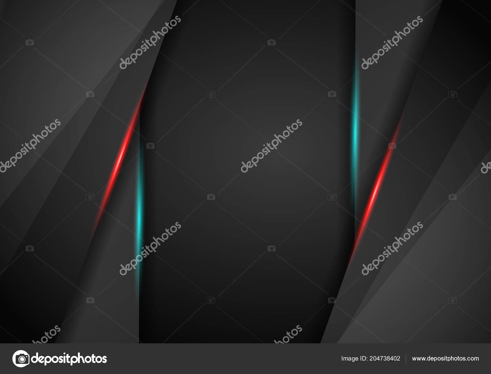Black Background Overlap Dimension Red Blue Frame Layout
