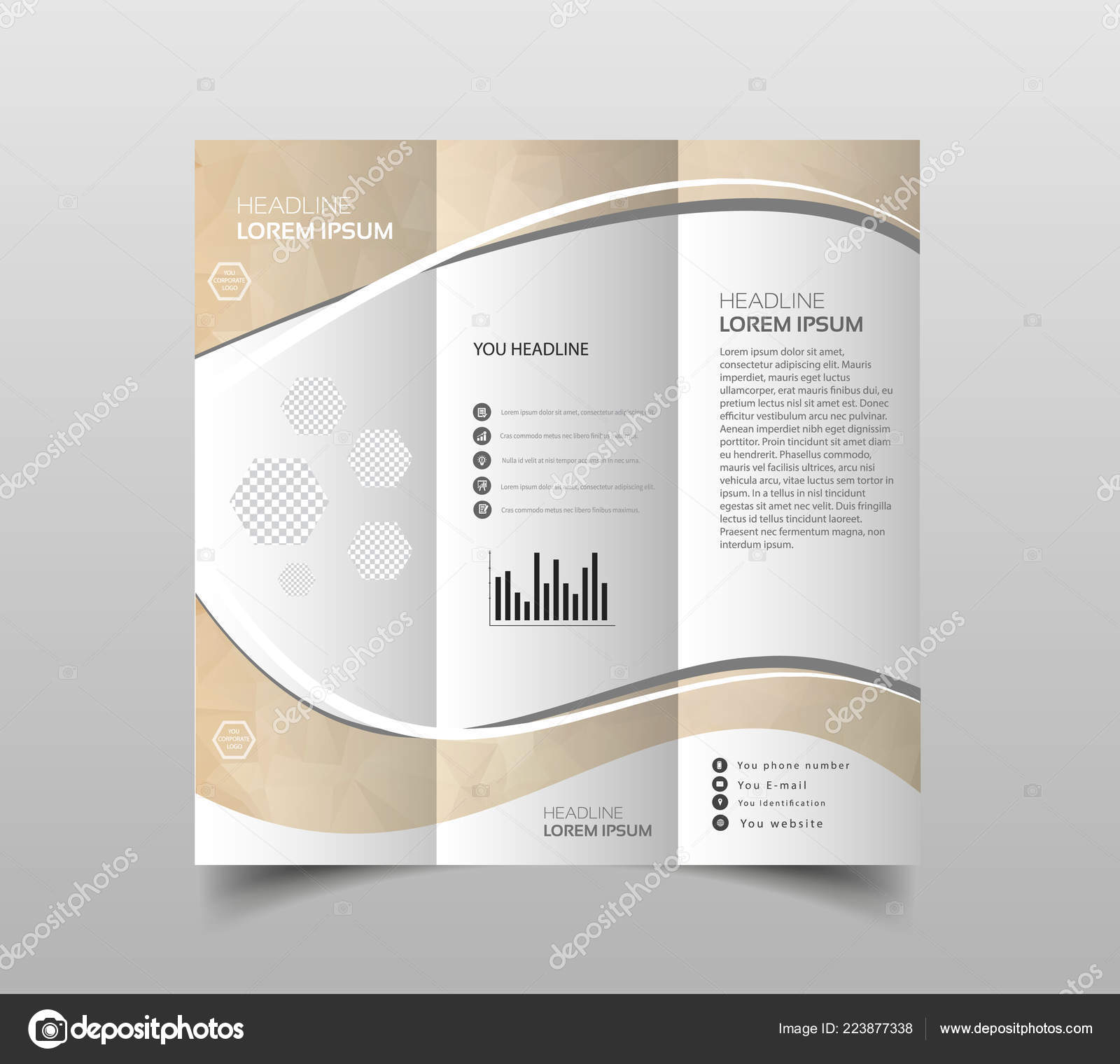 vector collection tri fold brochure design templates modern