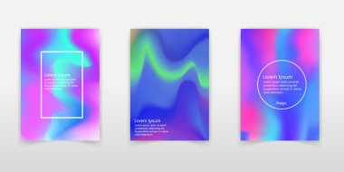 Set of realistic holographic Foil backgrounds in different colors for design. Hologram to create trendy modern design. Backgrounds for design cards, filling silhouettes, pattern design to printing.